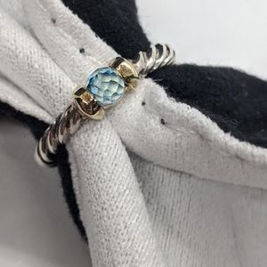 David Yurman _ Blue Topaz Cable Classics Ring